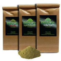 Kratom - 3 x 25 gr. Poeder - White Vein - Red Thai - Super Green Thai